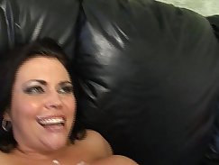 Bbw rides his big cock in bed and then she is fucked in the butt