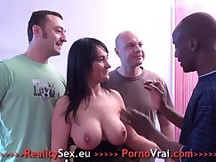 Amateur girl fucked in the double gangbang