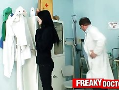 All natural Bea gets poked by a nurse and gets ravaged with big cock
