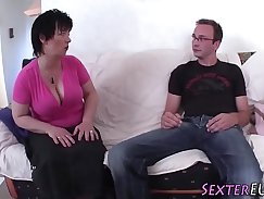 Bigtitted german milf pounded hard and jizzed all over her moves