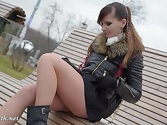 Bird sex in pantyhose PUBLIC cleanup
