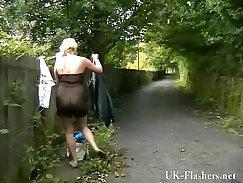 Blonde Babe Enjoys Masturbation In Public