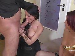 Brad takes on two hot German women