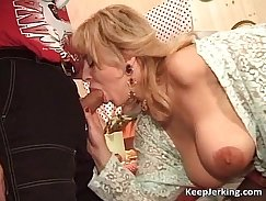 Blonde milf with hairy pussy gets herself off