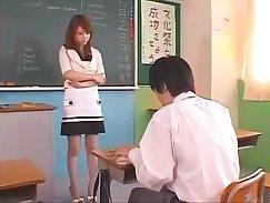 Busty Japanese teacher Yuki takes a pounding from a guy