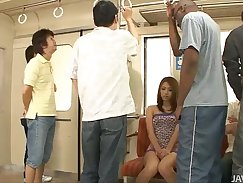 Amazing Japanese hottie Rebeca pussy abused by hot tempered dude in a cage