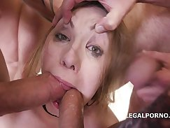 Adam gangbang anal party and swallow