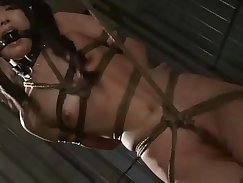 Asian tiedup and dominated in the torture